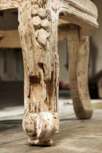 Wooden furniture attacked by termites.