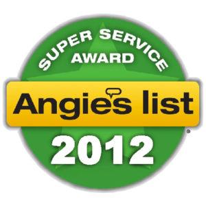 Angies List Service Award - 2012